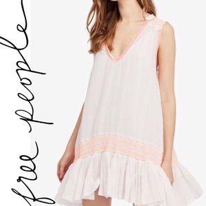 FREE PEOPLE Run With Me Plaid Mini Dress